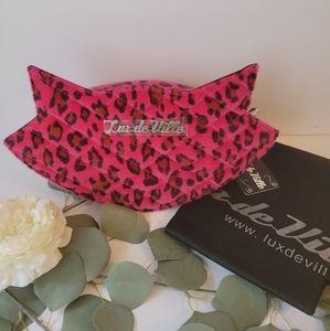Lux de Ville Cat Sash Pink Leopard bag